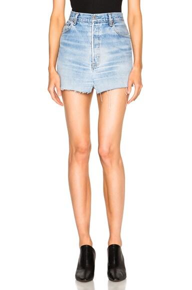 VETEMENTS Jean Mini Skirt in Blue