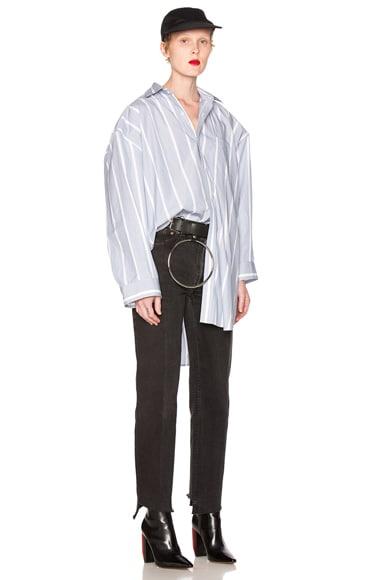 VETEMENTS Classic Stripes Shirt in Blue & White