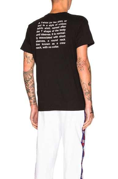 VETEMENTS x Hanes Entry Level Tee in Black