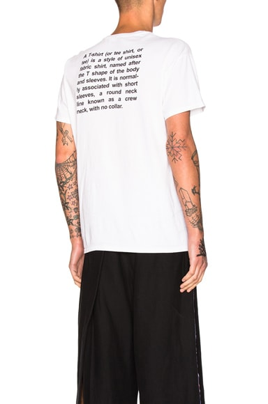 VETEMENTS x Hanes Entry Level Tee in White