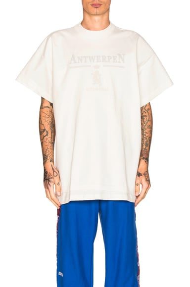 VETEMENTS x Hanes Oversized Double Tee in Antwerpen