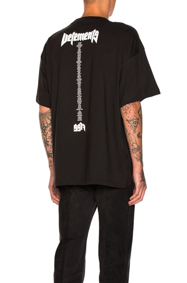 VETEMENTS x Hanes Staff Oversized Tee in Black