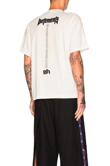 VETEMENTS x Hanes Staff Oversized Tee in White