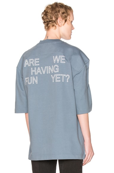 Football Shoulder Tee Shirt Are We Having Fun Yet
