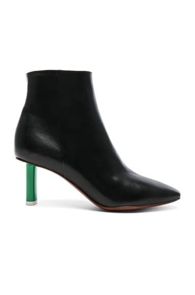 Lighter Heel Leather Ankle Boots