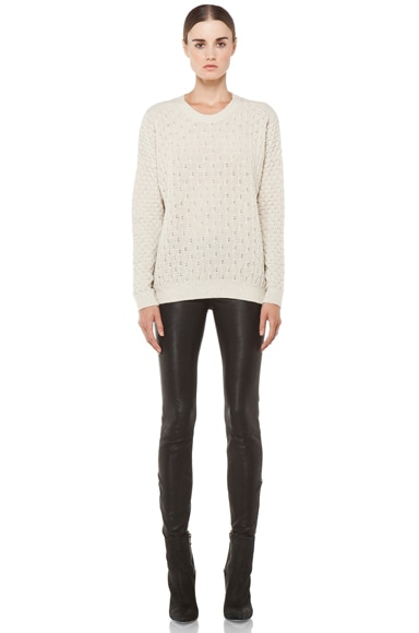 Textured V Neck Sweater