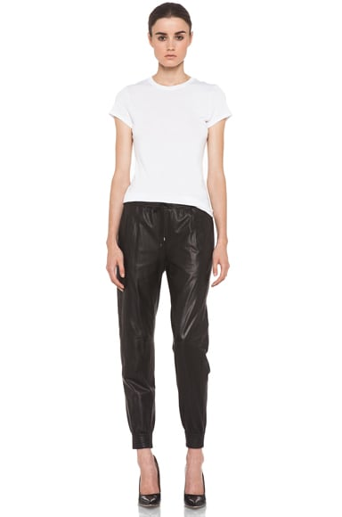 Leather Jogging Pant