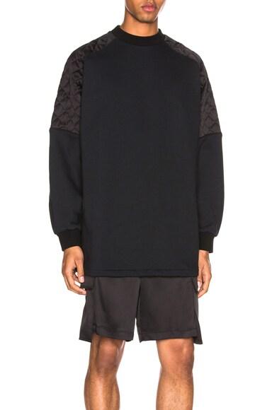 Oversized Silk Quilted Sweatshirt