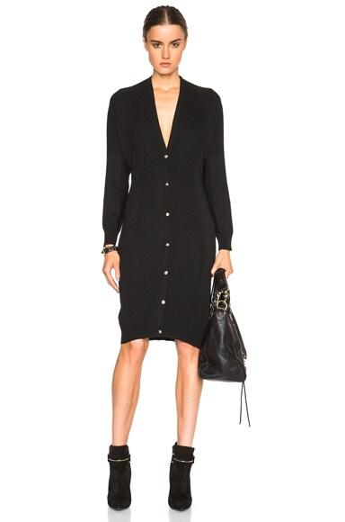 VERSACE Long Cardigan Dress in Black