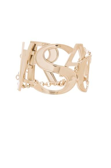 VERSACE Logo Bracelet in Gold