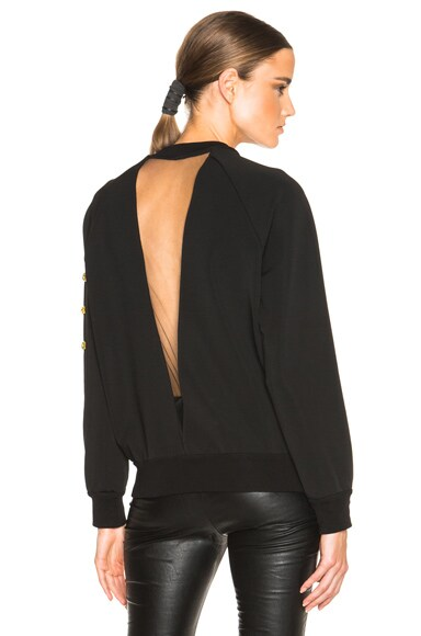 VERSACE Embroidered Sweatshirt in Black