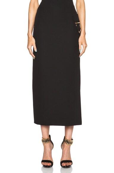 VERSACE Side Slit Skirt in Black
