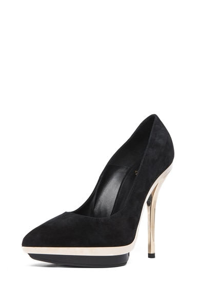 Suede Mirrored Pump