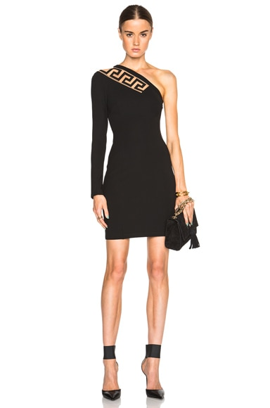 One Shoulder Jersey Dress with Cutout
