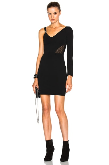 Versus One Sleeve Mini Dress in Black