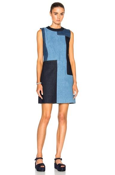 Victoria Victoria Beckham Tunic Dress in Blue Patch