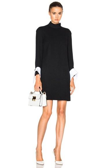 Victoria Victoria Beckham Drape Cuff Dress in Black & White