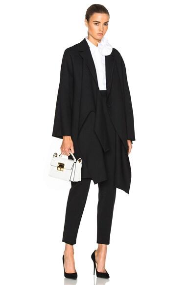 Victoria Victoria Beckham Tie Front Coat in Black