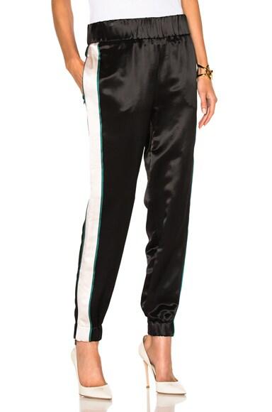 Victoria Victoria Beckham Slim Track Pant in Black & Blush