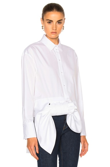 Asymmetric Bow Shirt