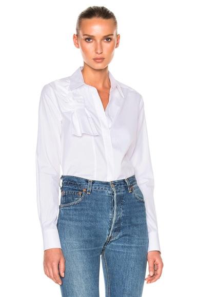Victoria Victoria Beckham Knot Front Shirt in White