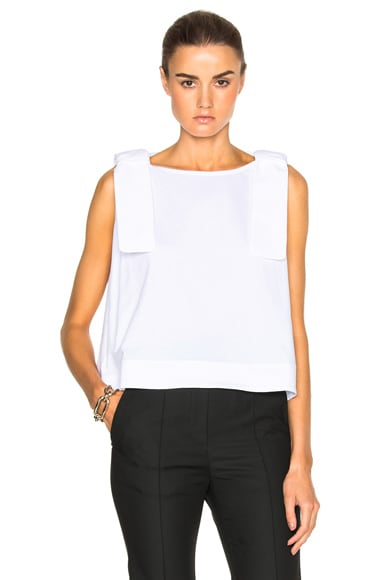 Victoria Victoria Beckham Double Knot Top in White