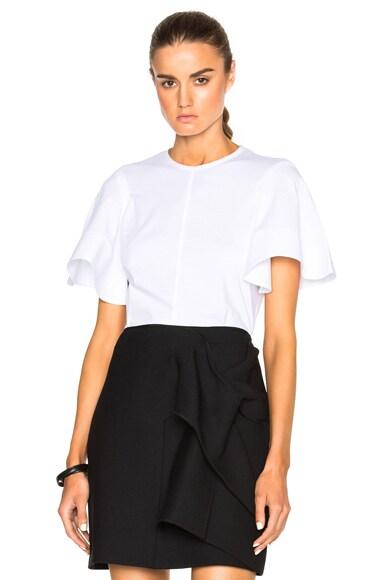 Victoria Victoria Beckham Circle Sleeve Top in White