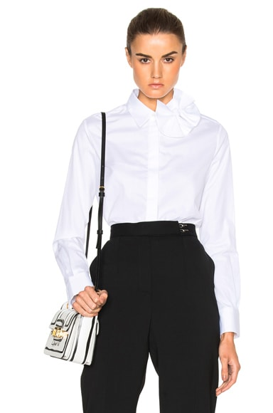 Victoria Victoria Beckham Single Bow Top in Optic White