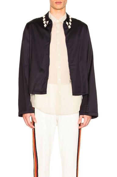 Zip Up Embroidered Jacket
