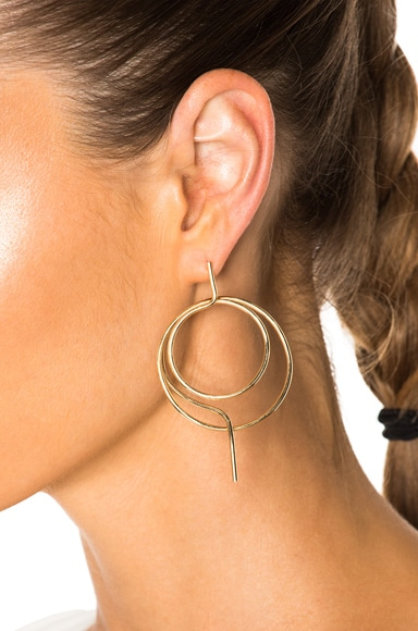 Wire Ring Chandelier Earrings