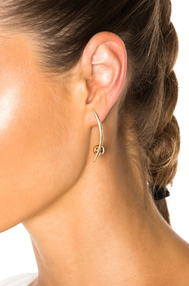 Crescent Sphere Earrings