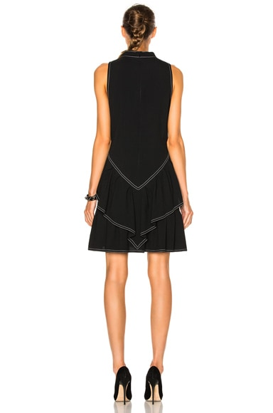 Rock Neck Ruffle Dress