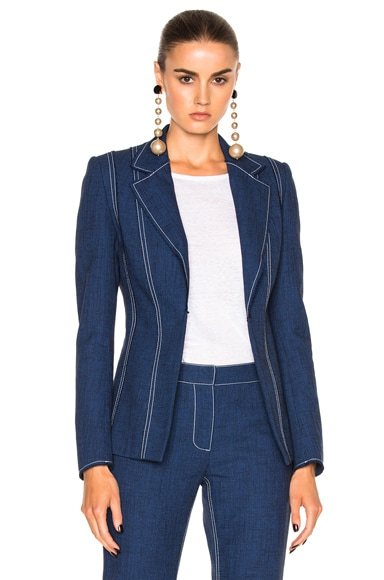 Wes Gordon Prism Blazer in Midnight Blue