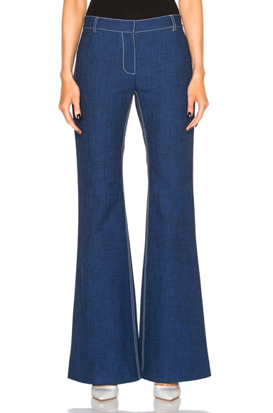 Wes Gordon Flare Pant in Midnight Blue