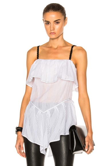 Wes Gordon Ruffle Hem Cami Top in White