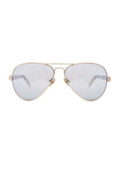 WESTWARD LEANING Concorde 11 Sunglasses in Blonde Tortoise & Steel Blue