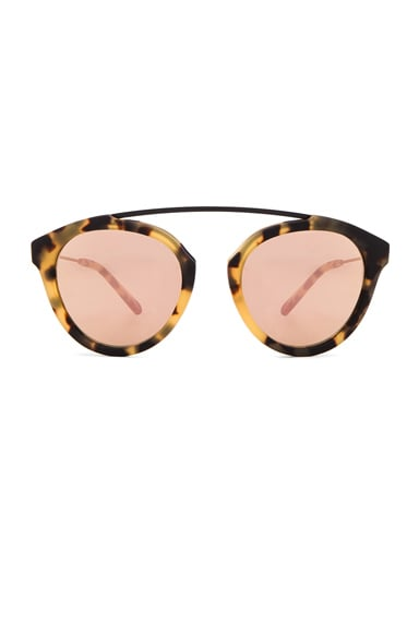 WESTWARD LEANING x Olivia Palermo Flower 13 Sunglasses in Sand Tortoise & Rose Gold