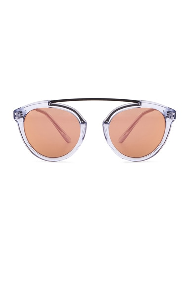 WESTWARD LEANING x Olivia Palermo Flower 14 Sunglasses in Blue Ice & Rose Gold