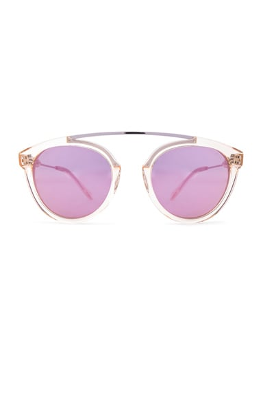 WESTWARD LEANING Flower 7 Sunglasses in Champagne & Pink