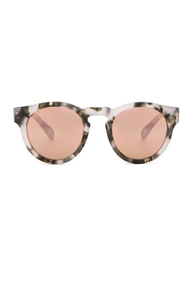 WESTWARD LEANING x Olivia Palermo Voyager 15 Sunglasses in Pepper Tortoise & Rose Gold