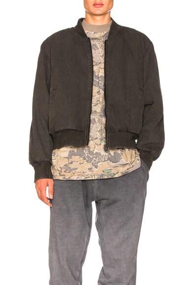 Canvas Bomber Jacket