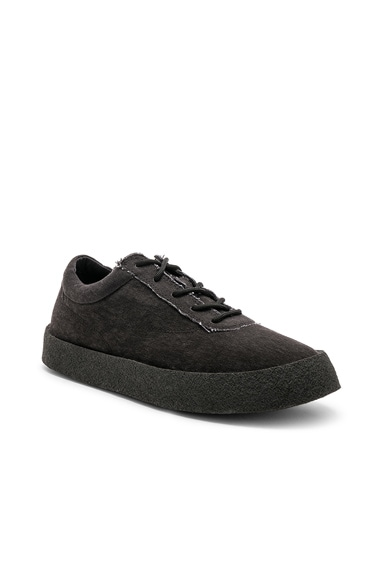 Washed Canvas Crepe Sneakers