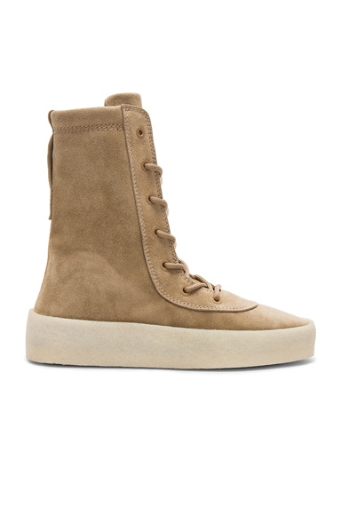 Suede Crepe Boots