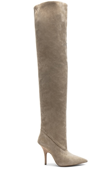 Season 5 Suede Tubular Thigh High Boots