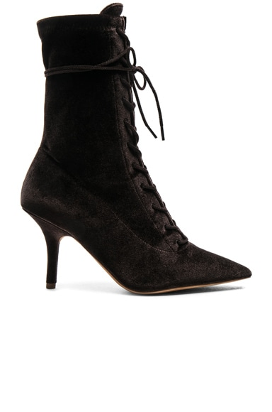 Season 5 Velvet Lace Up Boots