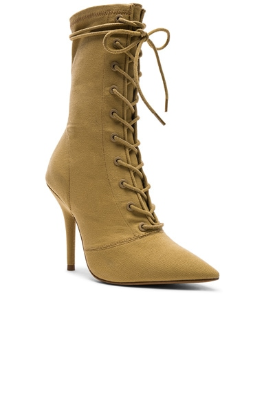 Season 6 Stretch Canvas Lace Up Ankle Boots