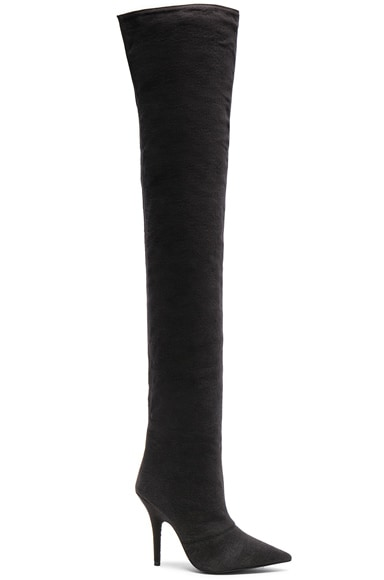 Season 6 Washed Canvas Thigh High Boots