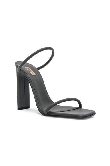 Season 6 Rubberized Leather Minimal Sandals