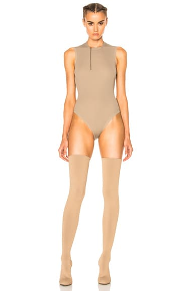 YEEZY Season 3 Sleeveless Bodysuit in Desert Light