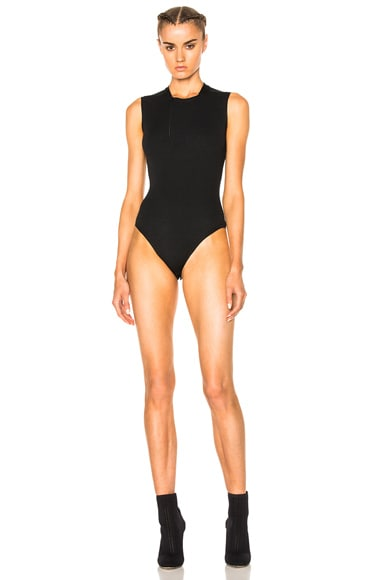 YEEZY Season 3 Sleeveless Bodysuit in True Onyx